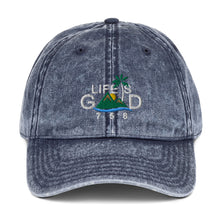 "Load image into Gallery viewer, ""LIFE IS GOOD"" VINTAGE CAP"