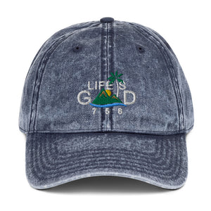"""LIFE IS GOOD"" VINTAGE CAP"