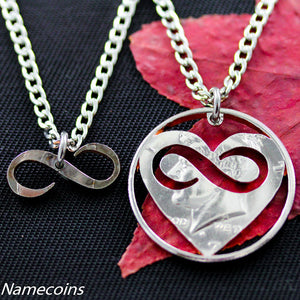 Hearts and Infinity Necklaces