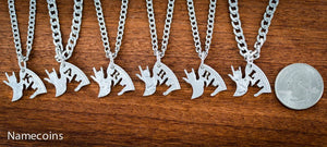 6 Piece - 6 Piece Family Connecting Love Necklaces With Monograms