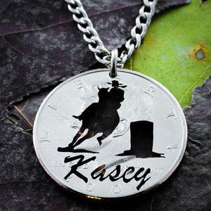 Barrel Racer Name Necklace, Country girls jewelry