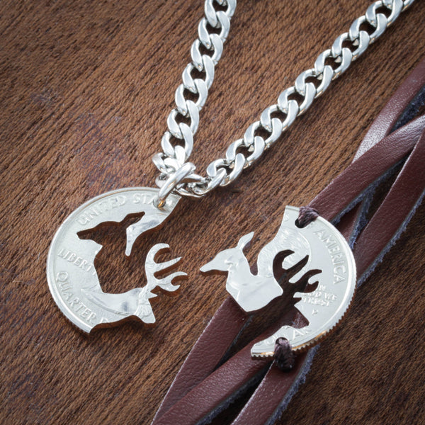 Buck and Doe Woven Bracelet and Key chain