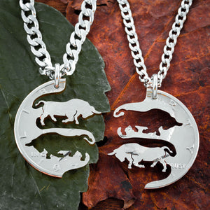 Best Friends Bull Necklaces by Namecoins