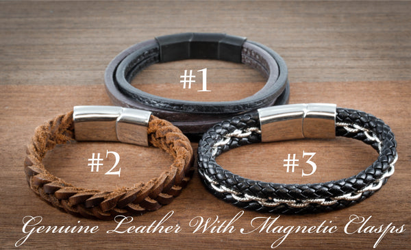 Silver Tiger and Wolf Relationship Bracelets, Heart Jewelry, Couples leather Bracelets
