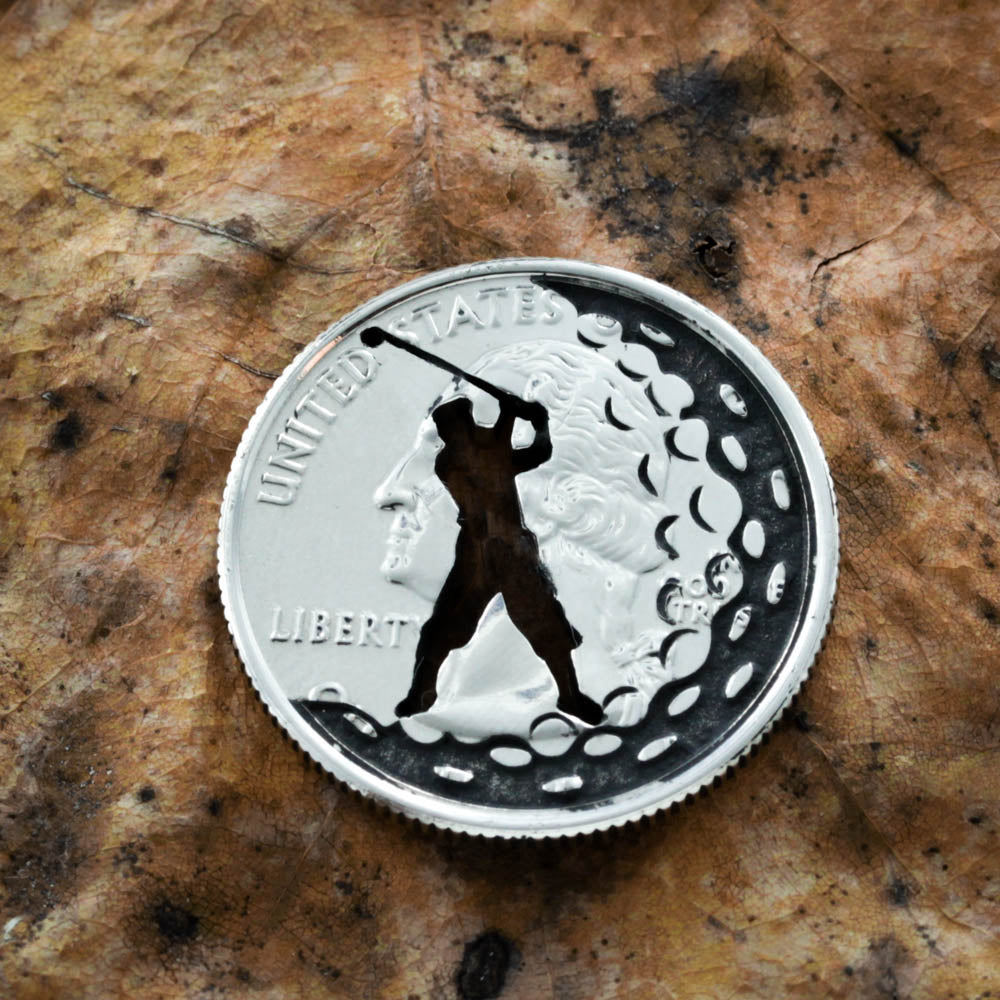 Golf Gift, Man Or Woman Golfer, Dad or Mom Gift, Ball Marker and Divot tool