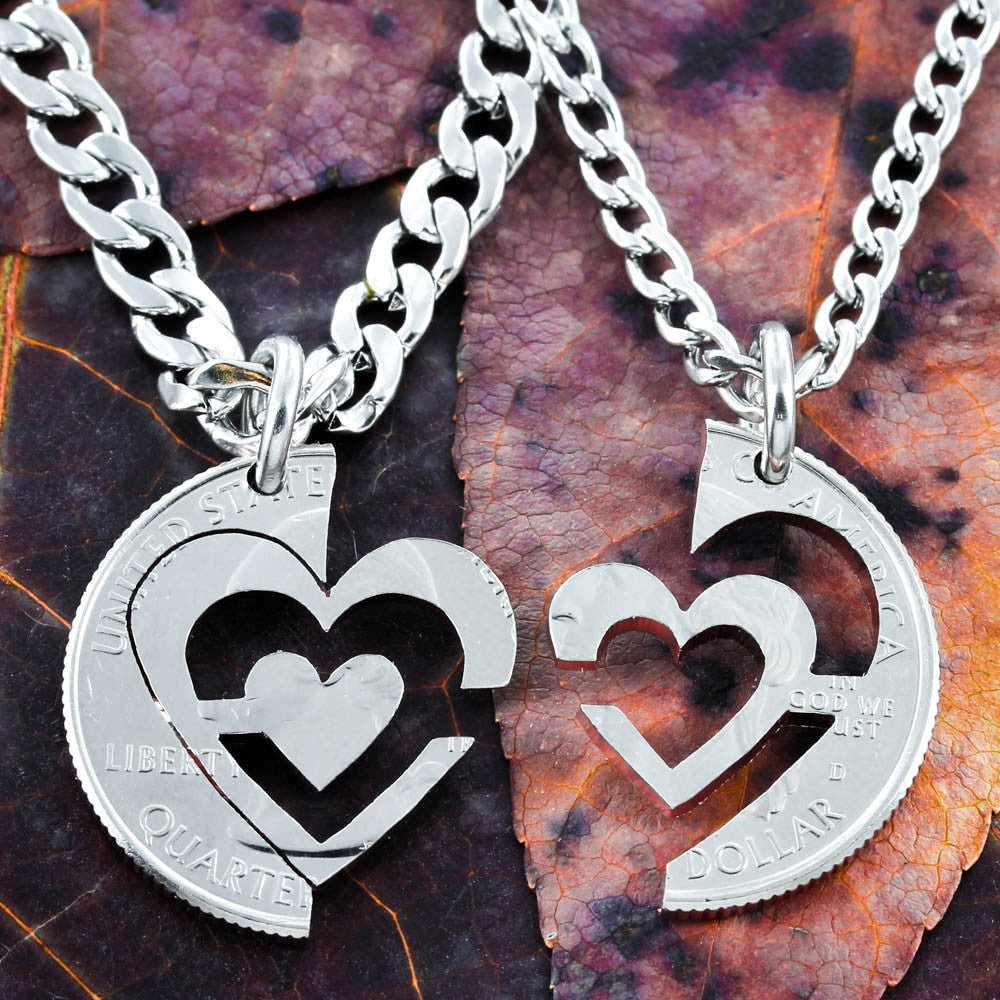 I Carry Your Heart Necklaces, couples jewelry - NameCoins