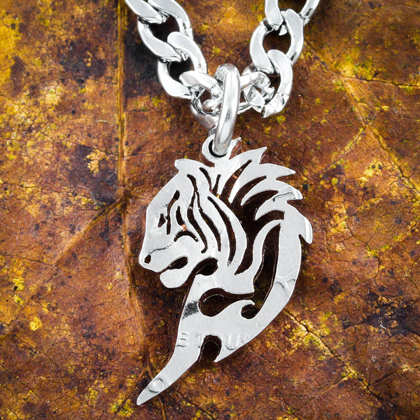 Tribal Horse and Tiger Couples Necklaces, Friendship Heart Jewelry