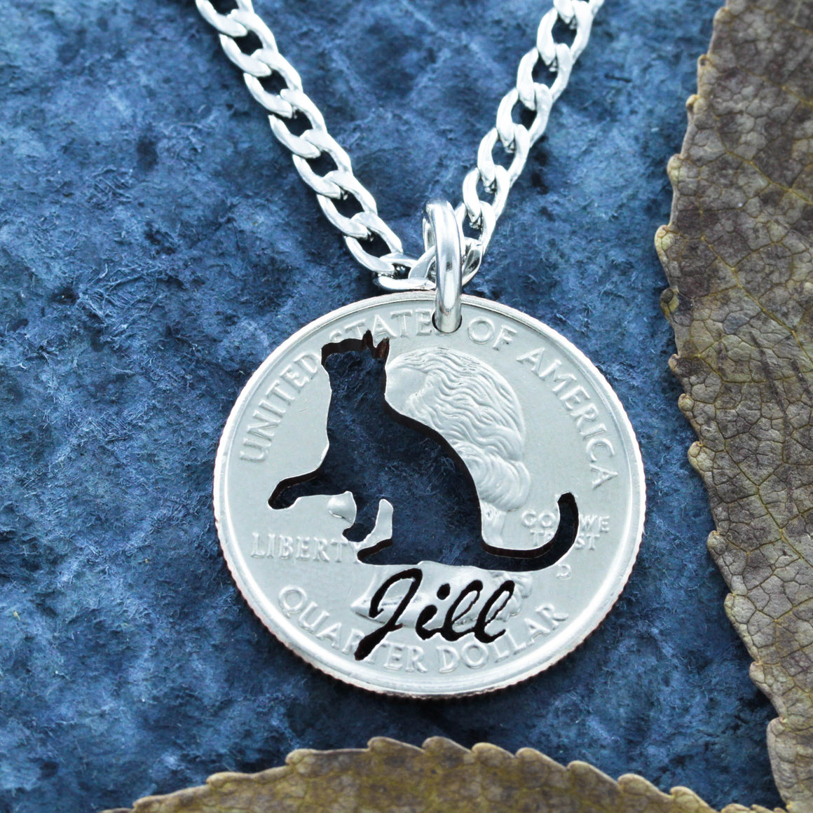Cat Necklace, Custom Name, Pet Memorial