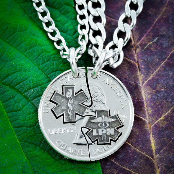 LPN Nurse Necklaces for Couples and Best Friends, Doctor and Nurse gifts