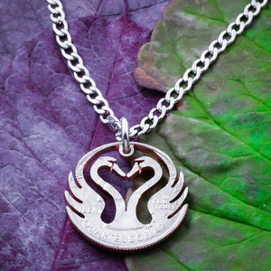 Heart of Swan Necklace, Duck and Goose