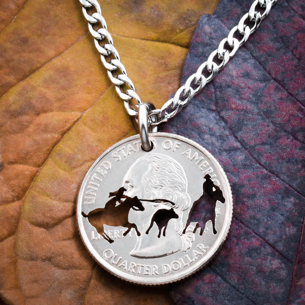 Woman Calf Roper Necklace, Team Roping, Western jewelry