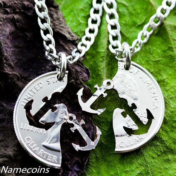 Anchors - Anchor Friendship Necklaces, Best Friends Jewelry