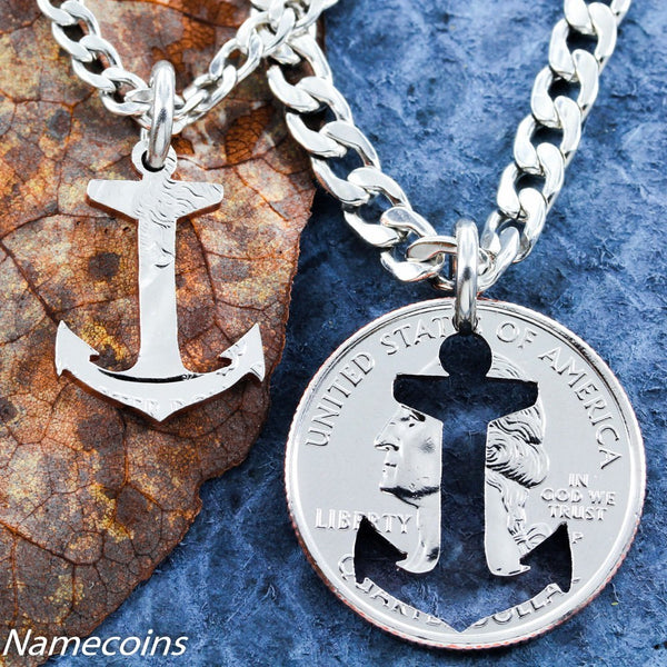 Anchors - Beach Jewelry, Inside And Outside Pieces, Relationship Necklace, Anchor
