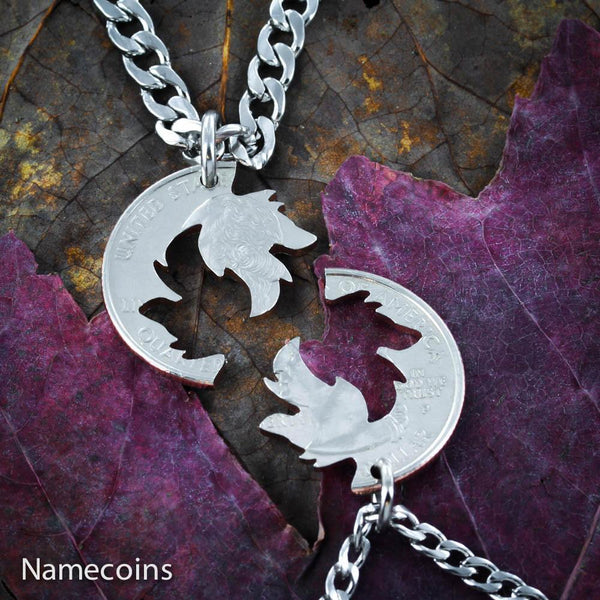 Animal Necklace Set - Wolf Couples Necklaces