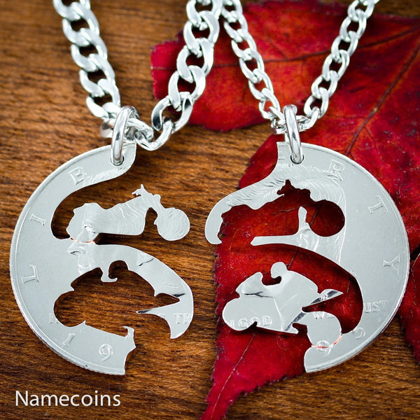 Biker Couples - Motorcycle Jewelry, Harley And Sportbike Coin Necklaces