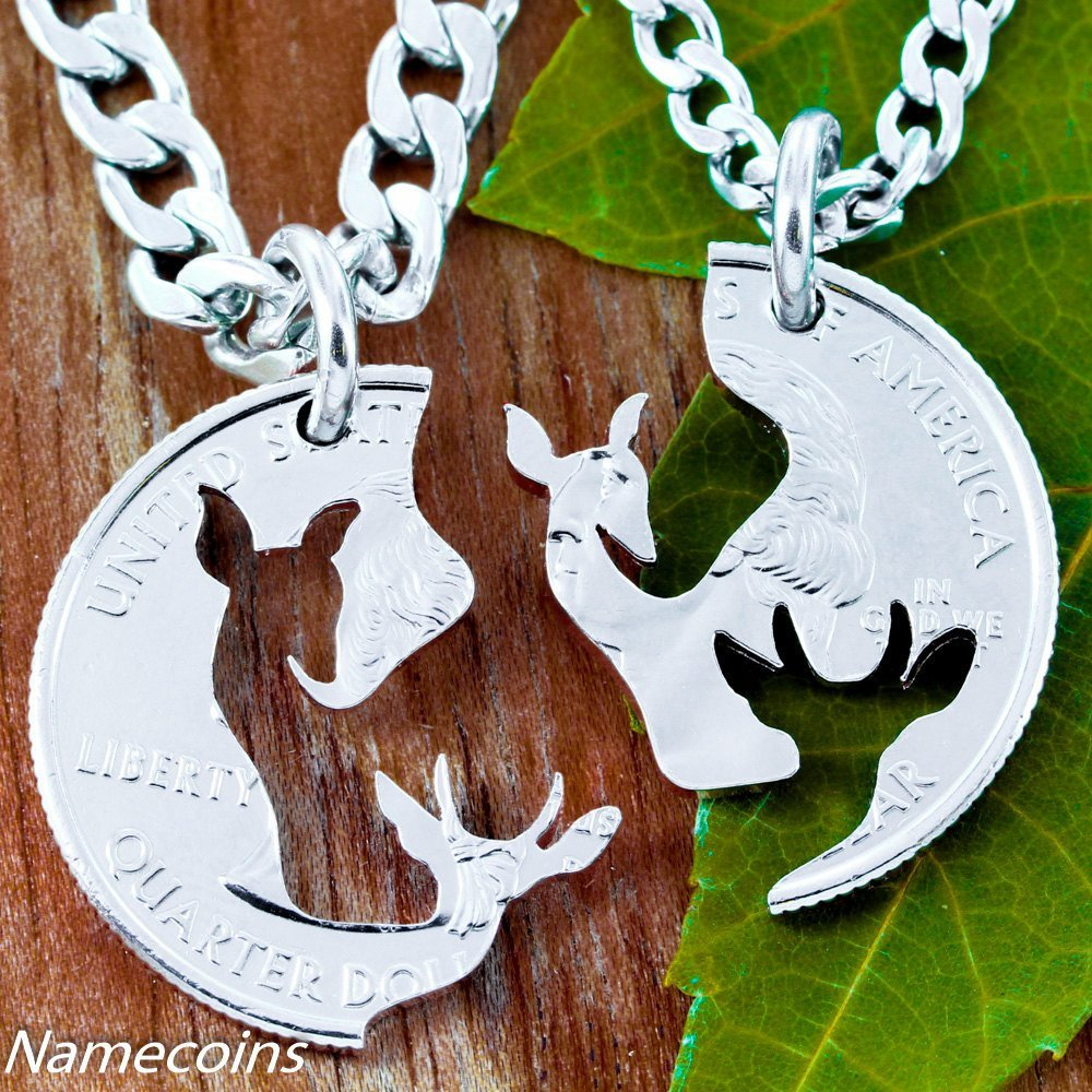 Brother and sister jewelry buck and doe quarter necklace couples brother and sister jewelry buck and doe quarter necklace couples puzzle piece aloadofball Image collections