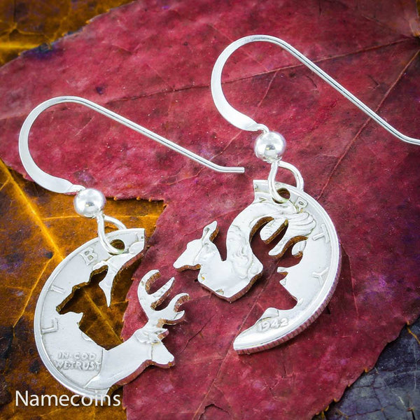 Buck Doe Couples Necklaces - Buck And Doe Silver Earrings