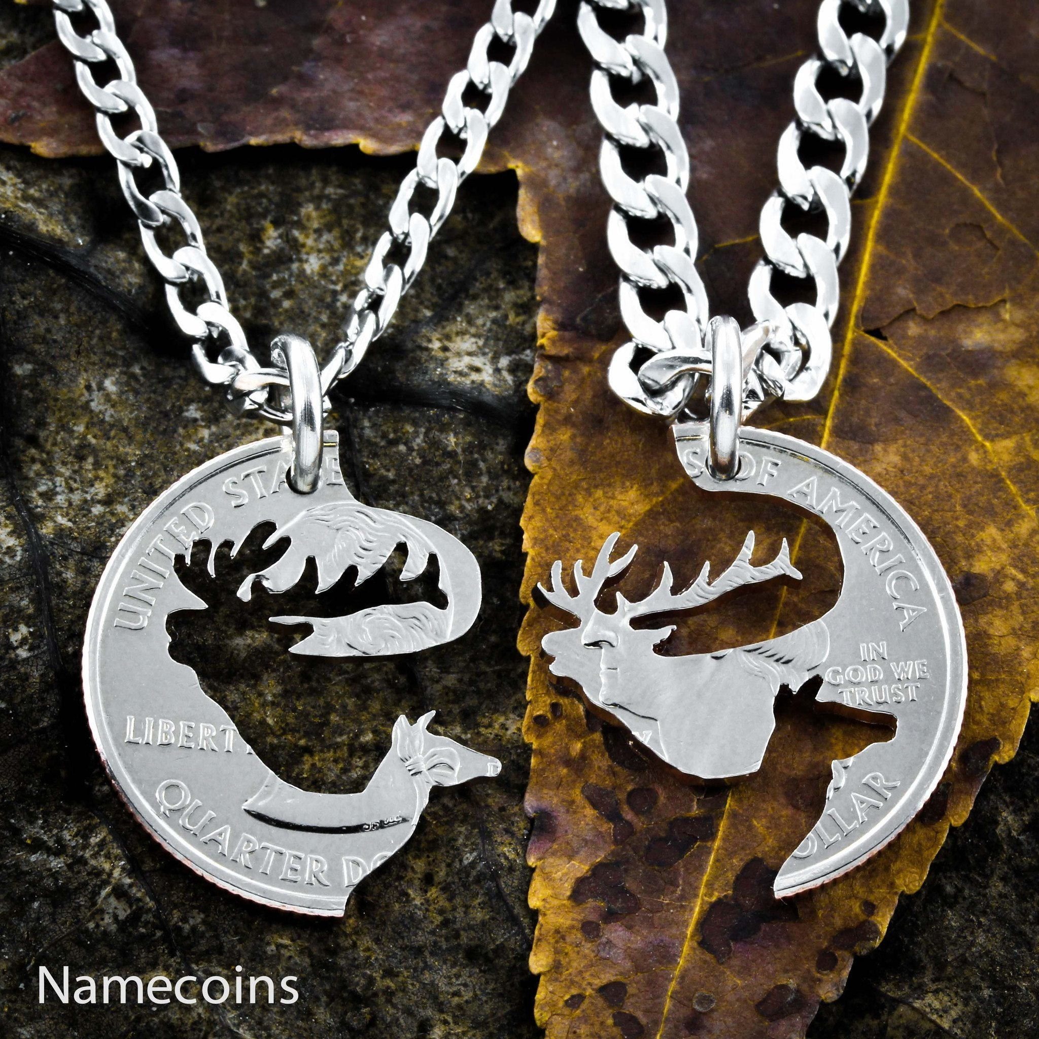 Buck And Doe Necklaces Namecoins