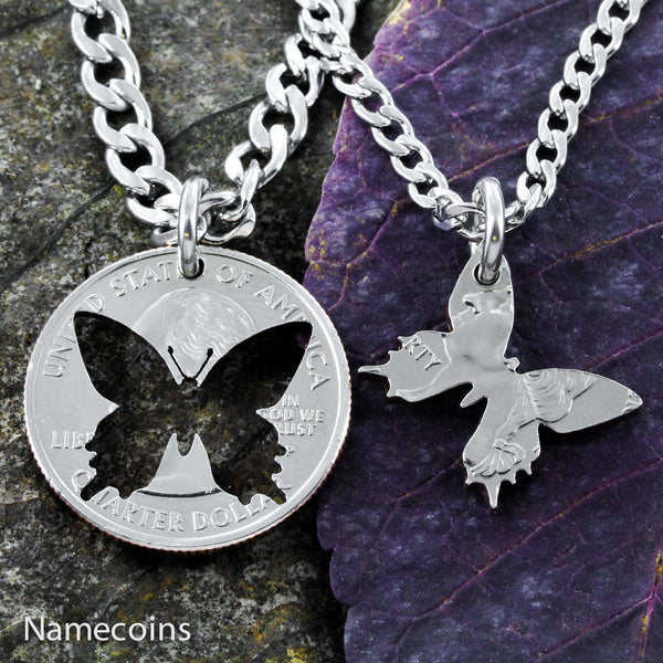 Butterfly Best Friends Necklaces