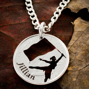 Colorguard Jewelry, Girls custom name necklace