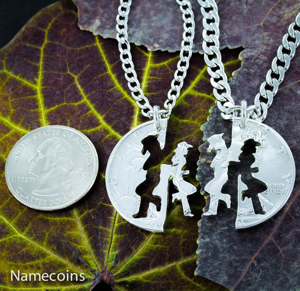 Cowgirl Jewerly, His and hers Cowboy necklaces, Matching set, hand ...