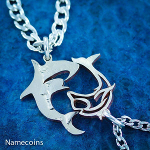 Dolphin And Shark Couples Necklaces