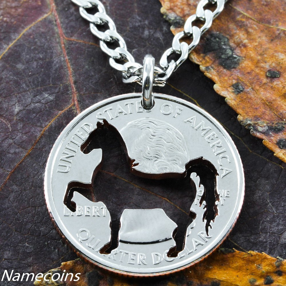 horse nd jewelry silver necklace spoon jewellery by