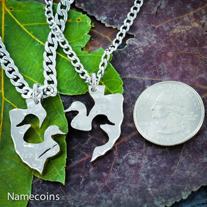 Hunting - Interlocking Duck Arrowhead Necklace Set