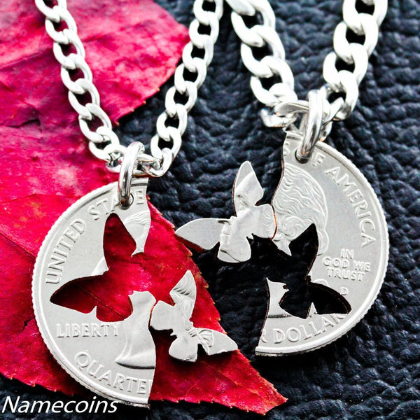 Interlocking Butterfly Puzzle Necklaces