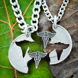 Medical Necklaces for Couples and Best Friends, Doctor and Nurse gifts