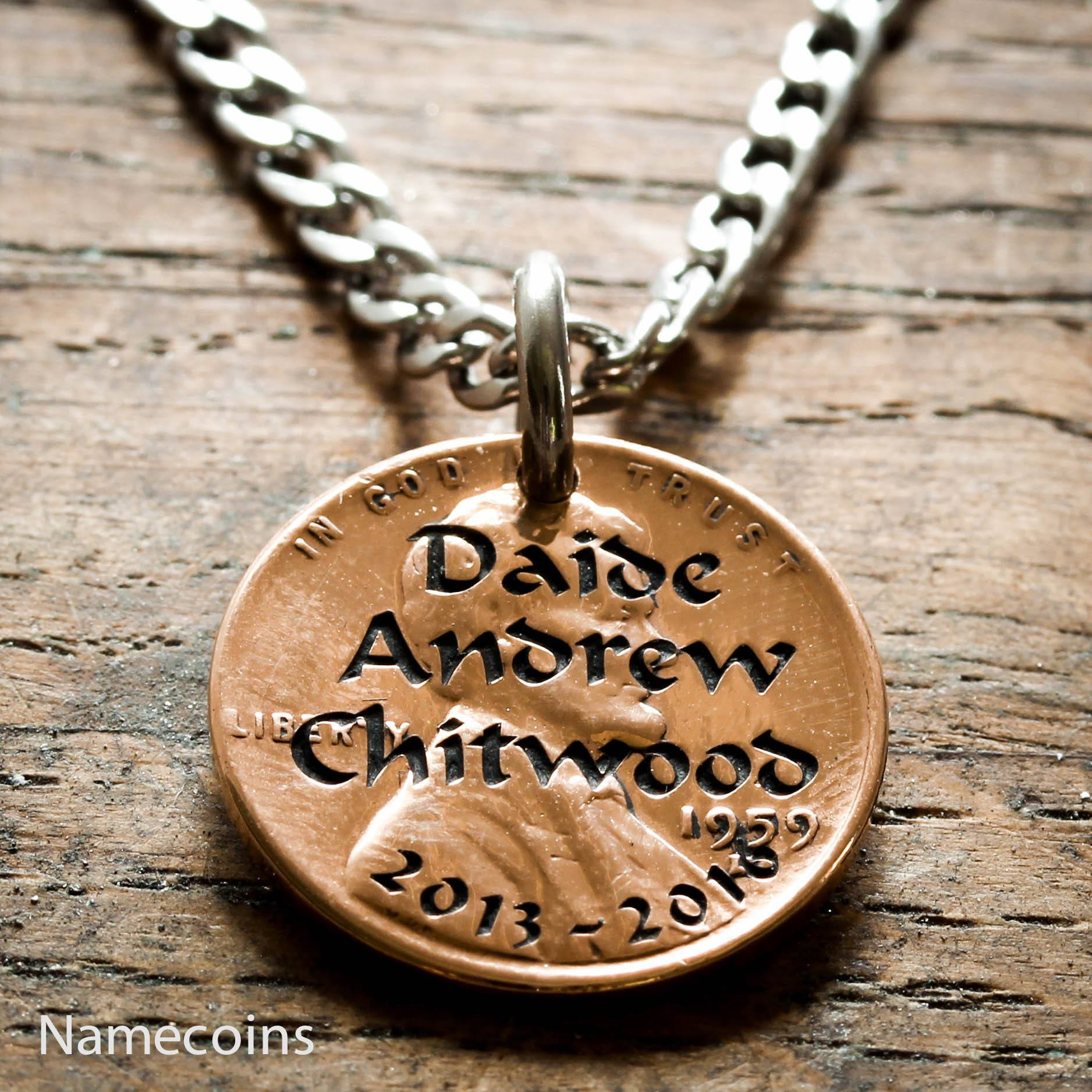 necklaces products and funeral memorial necklace penny mens jewelry sports date womens name
