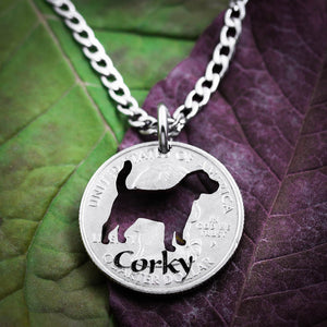 Pet Memorial Necklace, Custom Name and Pet, Dog memorial Jewelry