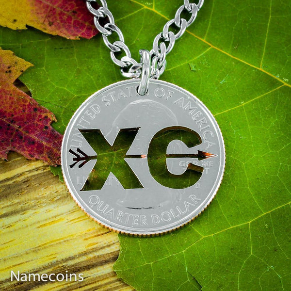 Sports - Cross Country XC Love 2 Run Necklace, Handmade Jewelry