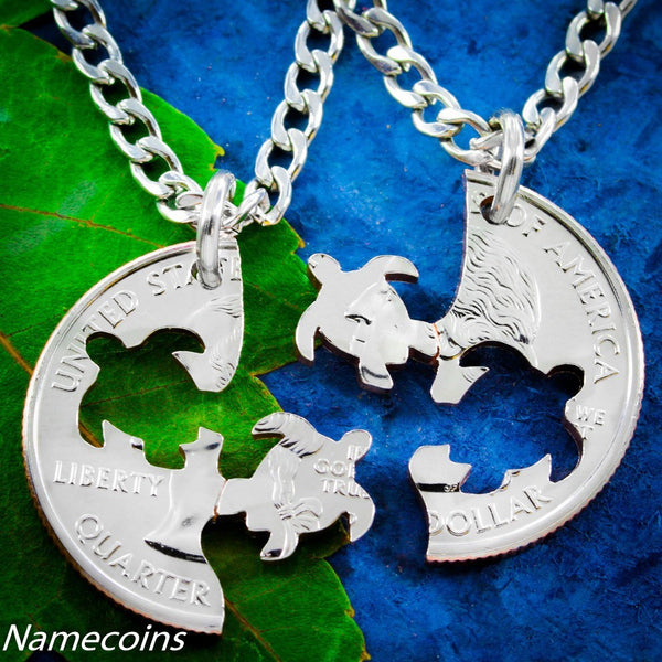Turtles - Turtle Best Friends Necklaces, Interlocking Set