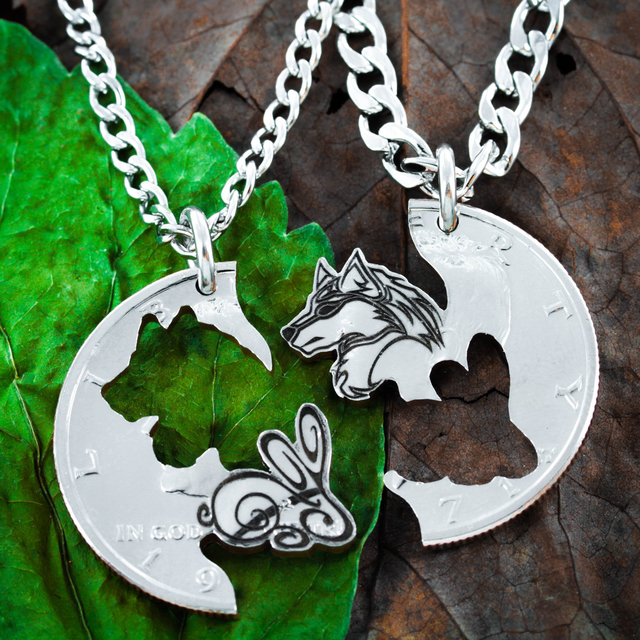 silver j jewellery necklaces necklace forest real wolf ksvhs p anger cute in pendant white head
