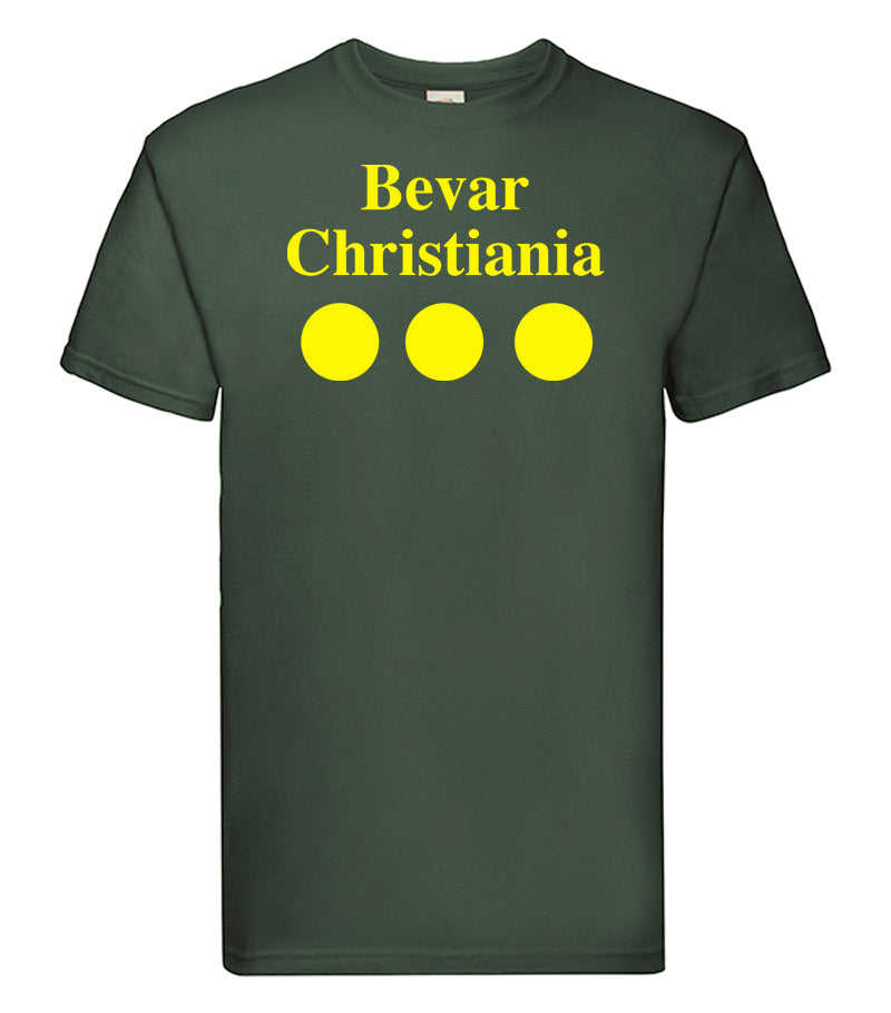 Christiania T Shirt Green - SmokeBuddy Headshop