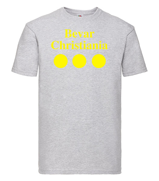 Christiania T Shirt Grey - SmokeBuddy Headshop