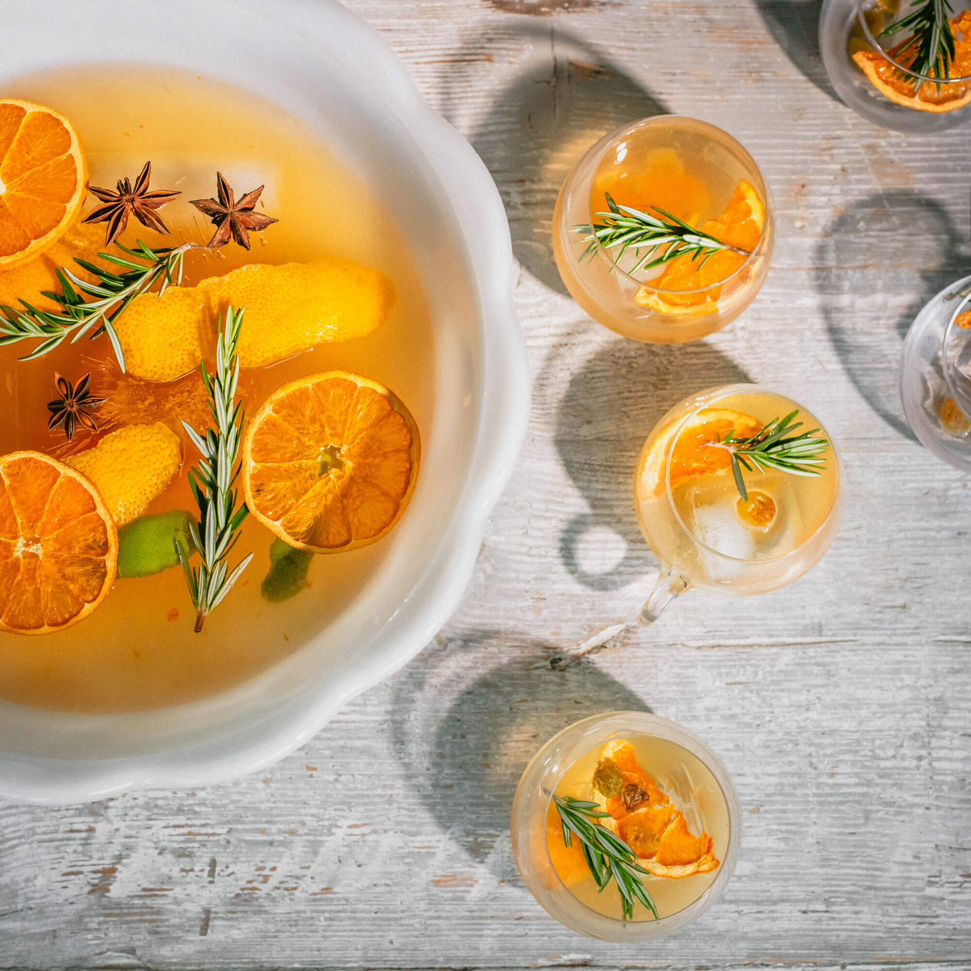 Dehydrated Fruit Punch Cocktail
