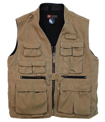 Outdoor Weste Delta- mit verdeckten Innentaschen und Holster in tobacco - OUT OF AUSTRALIA | Kakadu Traders Australia