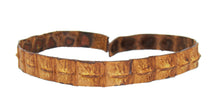 Afbeelding in Gallery-weergave laden, Echtes Krokodil Leder Hutband in tobacco - OUT OF AUSTRALIA | Kakadu Traders Australia