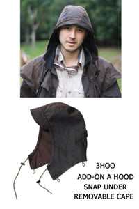 abnehmbare Kapuze | Mütze- Attachable Hood in tan passend zu Kakadu Oilskin Jacken - OUT OF AUSTRALIA | Kakadu Traders Australia