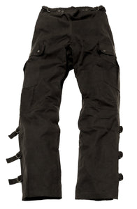 Wetterfeste Überzieh Outdoor - Biker | Reiter-Hosen Walk-a-bout Pants- in schwarz - OUT OF AUSTRALIA | Kakadu Traders Australia