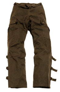 Wetterfeste Überzieh Outdoor | Biker | Reiter-Hosen Walk-a-bout Pants- in braun - OUT OF AUSTRALIA | Kakadu Traders Australia