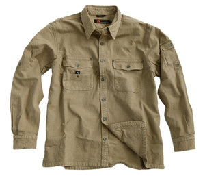 Toorak, outdoor werk shirt voor heren in khaki