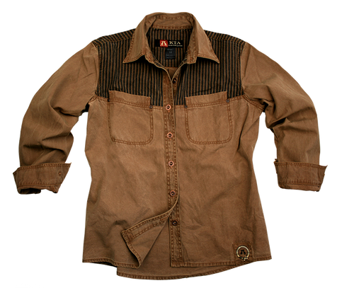 Outdoor | Western Shirt-  Damenbluse Queens mit gestreifter Brustpartie - OUT OF AUSTRALIA | Kakadu Traders Australia