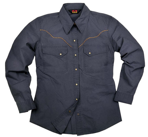Western | Outdoor Shirt- Damenbluse Forthworth mit bestickter Brustpartie - OUT OF AUSTRALIA | Kakadu Traders Australia