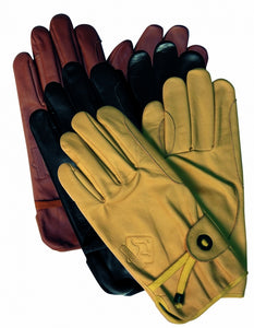 SCIPPIS GLOVES leren handschoenen in brown en tan