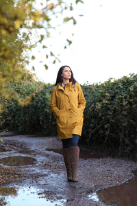 BRIGHTON PARKA STAYWAX dames jas in waxed katoen.