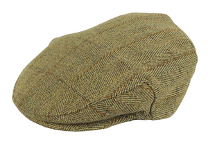 WOOL TWEED CAP in sage