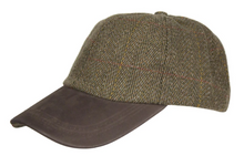 Afbeelding in Gallery-weergave laden, Leather Peak tweed baseball cap